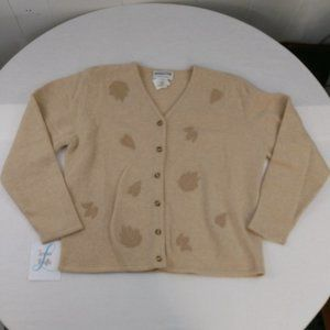 Pendleton 100% Lambs Wool Leaf Cardigan